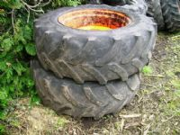 Kubota 320/70R20 + 420/70R28 Wheels and Tyres