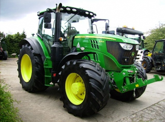 John Deere 6155R 4wd Auto Powr 50K, Full suspension, 2017